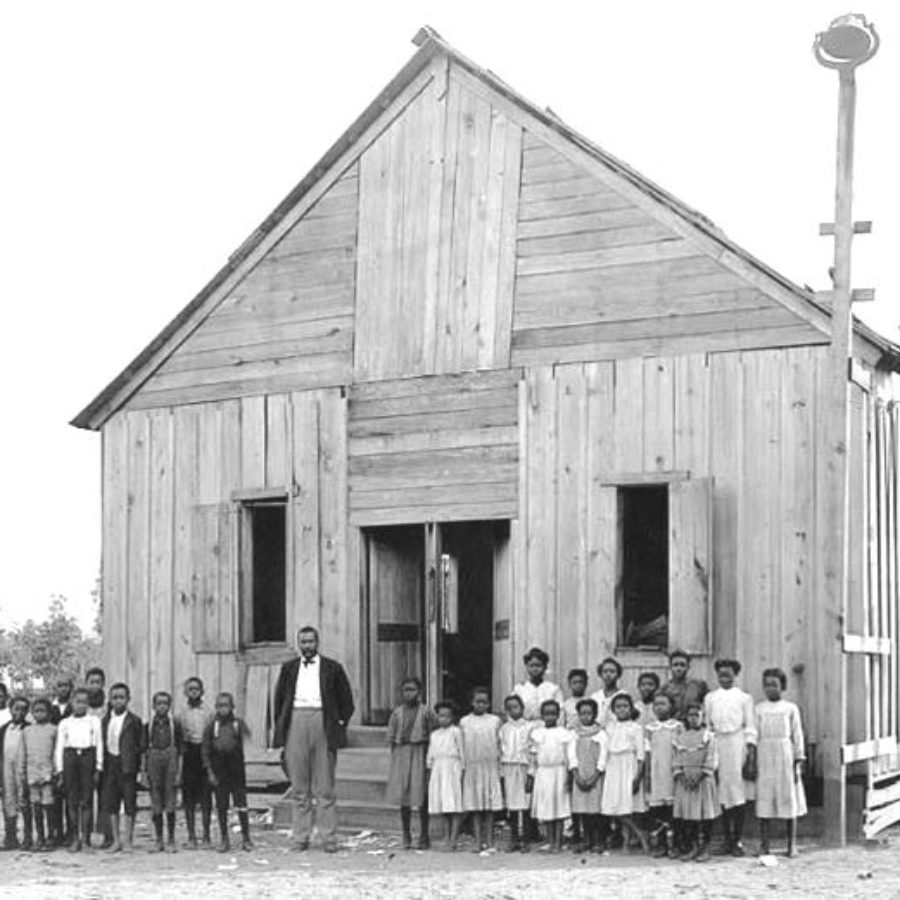 Booker T Washington African American Elementary School in Burkburnett