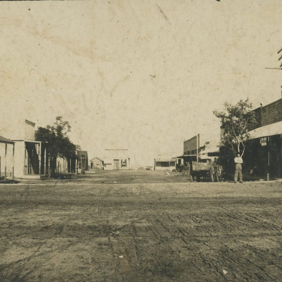 Downtown Iowa Park, Texas in 1900