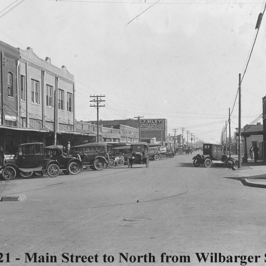 Main Street in Electra, Texas 1921