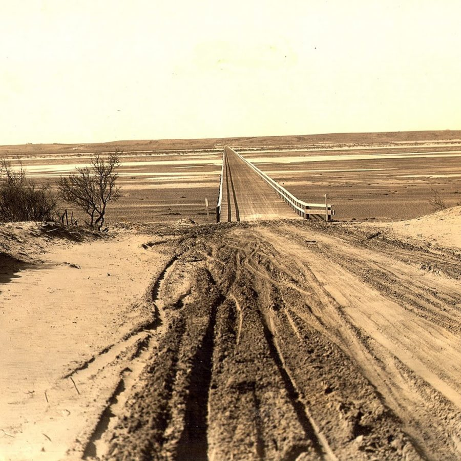 Red River Bridge in Burkburnett 1924